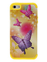 2-in-1 Design Shimmering Purple Butterflies Pattern Protective Case for iPhone 5/5S