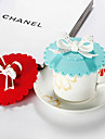 Three-Dimensional Bowknot Handle Silicon Leak Proof Cup Cover(Random Color)