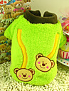 Dog Coat Green / Yellow Winter Embroidered