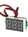 """V20D 0.56 """"LED Две линии 3-цифровой постоянного тока Модуль Вольтметр метр - белый + зеленый (DC 2.5 ~ 30V)"""