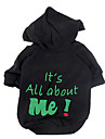Dog Hoodie Green Black Rose Dog Clothes Winter Spring/Fall Letter & Number Fashion