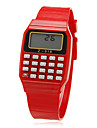 Unisex rektangel Dial Rubber Band Lcd Digital Sport Watch (Random färg)