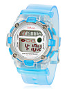 Children\'s Multi-Functional Round Dial Rubber Band LCD Digital Wrist Watch (Assorted Color)