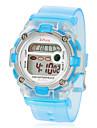 Multi-Functional manopola rotonda per bambini Rubber Band LCD orologio da polso digitale (colori assortiti)