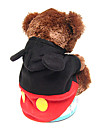 Dog Costumes/Dog Coats/Jumpsuits-XS/S/M/L/XL-Winter-Black-Hooded/Cosplay/Micky