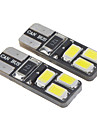 T10 1,6 W 6x5730SMD 28-35lm 6000K Cool White Light LED Lampe fuer Auto (12-16V, 2 Stueck)