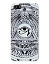 Hard Case PC noir et blanc Modèle triangulaire Eye pour iPhone 5/5S