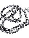 Fashion Round Black&Transparent Acrylics DIY beads(100 pcs)