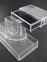 acrilico transparente complejo combinado de doble capa de almacenamiento de cosmeticos con cajon organizador cosmetica