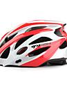 ЛУНА Велоспорт белый и красный PC / EPS 21 Вентс Защитный Поездка шлем