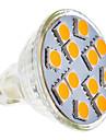 4W GU5.3(MR16) Lampadas de Foco de LED MR11 12 SMD 5050 210-250 lm Branco Quente AC 12 V