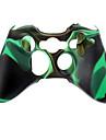 Беспроводной контроллер силиконовый чехол для Xbox360 (зеленый)