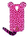 HW Leopard Print Pattern Protective Plastic Case with Tail for Galaxy S4 I9500 (Assorted Colors)