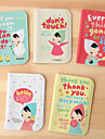 encantadora chica de dibujos animados con el caso de la tarjeta de credito panuelo (color al azar)
