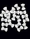 20PCS 3D White Resin Rhinestone bowknot decoracao de unhas