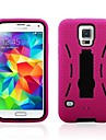 For Samsung Galaxy Case Shockproof / with Stand Case Back Cover Case Armor PC Samsung S5