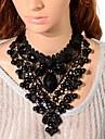 Женский Ожерелья-бархатки Ожерелья с подвесками Ожерелья-цепочки Кристалл Драгоценный камень Черный Бижутерия Halloween