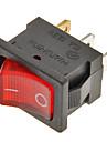 Rocker Switch 3-Pin ON / OFF (Red&Black, 6A,AC 250V/10A,AC 125V)