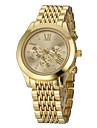 Unisex Elegant Design Steel Band Quartz Wrist Watch (Assorted Colors)