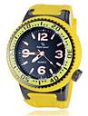 Heren Racing Style Rubber Case siliconen band quartz horloge (verschillende kleuren)