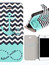 The Waves якоря судов Pattern Складной PU кожаный чехол всего тела с карт памяти для iPhone 5/5S