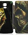 Для Кейс для  Samsung Galaxy Чехлы панели Флип С узором Чехол Кейс для Череп Искусственная кожа для Samsung S5