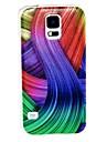 Kinston  Color Ribbon Pattern Plastic Hard Case for Samsung S5 I9600