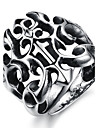 Cool Personality Domineering Punk Hollow-Out The Cross Titanium Steel Foundry Men\'s Ring
