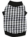 Cat / Dog Shirt / T-Shirt / Clothes/Clothing Black Spring/Fall Houndstooth
