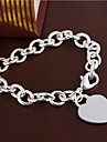 European Heart 20cm Women's  Sterling Silver Charm Bracelet(1 Pc) Christmas Gifts