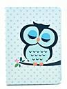 Dormir Capa de Couro da coruja dos desenhos animados Padrao PU com suporte para Samsung Galaxy Note10.1 / P600 / P601