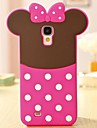Lovely Pink Bowknot 3D Silikon-Telefon-Kasten fuer Samsung i9500 Galaxy S4