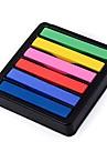 Non-toxic Temporary Salon Kit Hot DIY Colorful Hair Chalk 6 Colors Dye Pastel SV000202