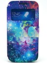Leo the Starry Sky Pattern PU Open the Window Leather Case with Card Slot and Stand for Samsung Galaxy S4 mini I9190