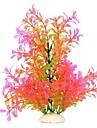 수족관 PVC 시뮬레이션 포크 물 꽃 그린 핑크