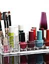 acrilico cosmeticos transparentes olla pincel de maquillaje soporte de almacenamiento cuadrado organizador cosmetica