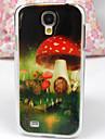 Smukke Mushroom House Mønster PC Back Case for Samsung S4/I9500