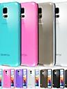 Pour Samsung Galaxy Coque Depoli Translucide Coque Coque Arriere Coque Couleur Pleine PUT pour Samsung S5