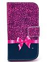 용 삼성 갤럭시 케이스 케이스 커버 지갑 카드 홀더 스탠드 플립 패턴 풀 바디 케이스 레오파드 프린트 인조 가죽 용 Samsung Core