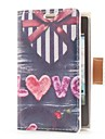 Heart Shape Gift Box Style Leather Case with Card Slot and Stand for LG E400/Optimus L3