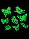 로맨틱 집 흡광 야간 조명 스티커 - 나비