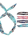 (1 Pc)Sweet Multicolor Fabric Headbands for Women(Random Color)
