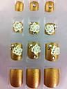 20шт золотой алмаз&цветок ногти подсказки искусства