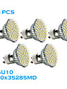 5 pcs GU10 2.5 W 60 SMD 3528 240 LM Warm White MR16 Spot Lights AC 220-240 V
