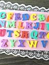 многоцветный заглавная буква в форме испечь торт плесень fandant (l10cm * * w6.5cm h0.7cm)