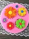 Six Sunflower Bake Fondant cake mold,L7.1cm*W7.1cm*H1cm