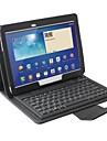 Teclado de silicone Bluetooth com Capa de Couro para Samsung Galaxy Tab 10.1 3 P5200/P5210