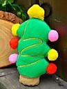 Festa de Natal Plush Toy Squeaking para Animais Cães (árvore de Natal)