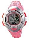 Дети Спортивные часы электронные часы LCD Календарь Секундомер Защита от влаги тревога Цифровой Pезина Группа Розовый