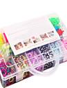 радуга красочный набор станок полосы 13 клетки многоцветной резинкой семья установить (4200 шт) и разъем